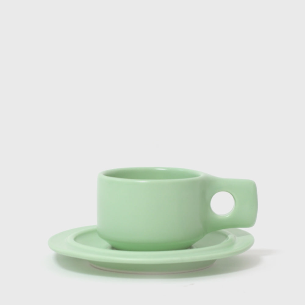[19 S/S] Mint Flat Cup & Saucer