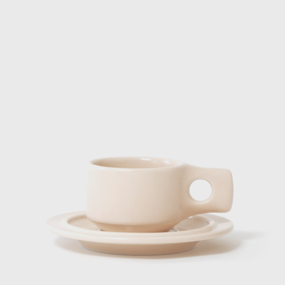 Fabrik Pottery Exclusive Linen Flat Cup & Saucer