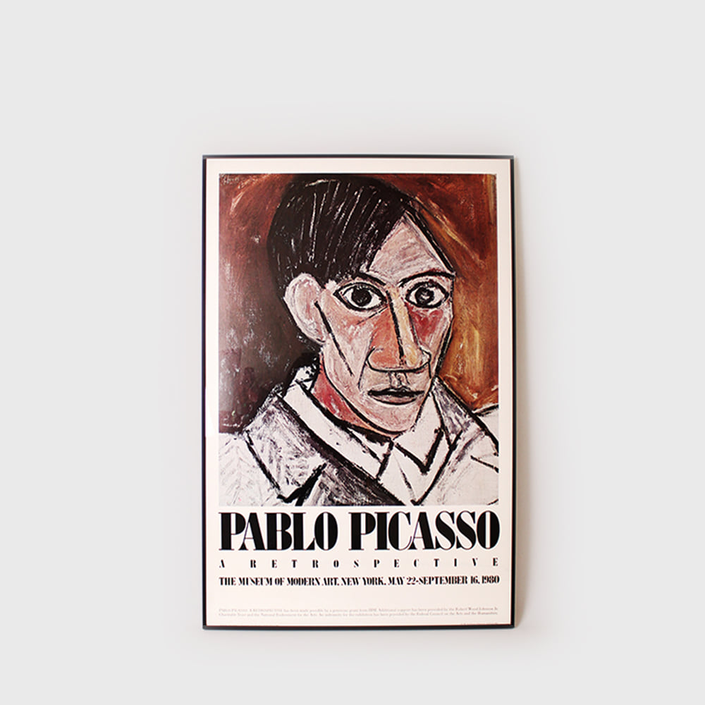 Beautiful Pablo Picasso MoMA Exhibit Poster 1980-Self Portrait 1907