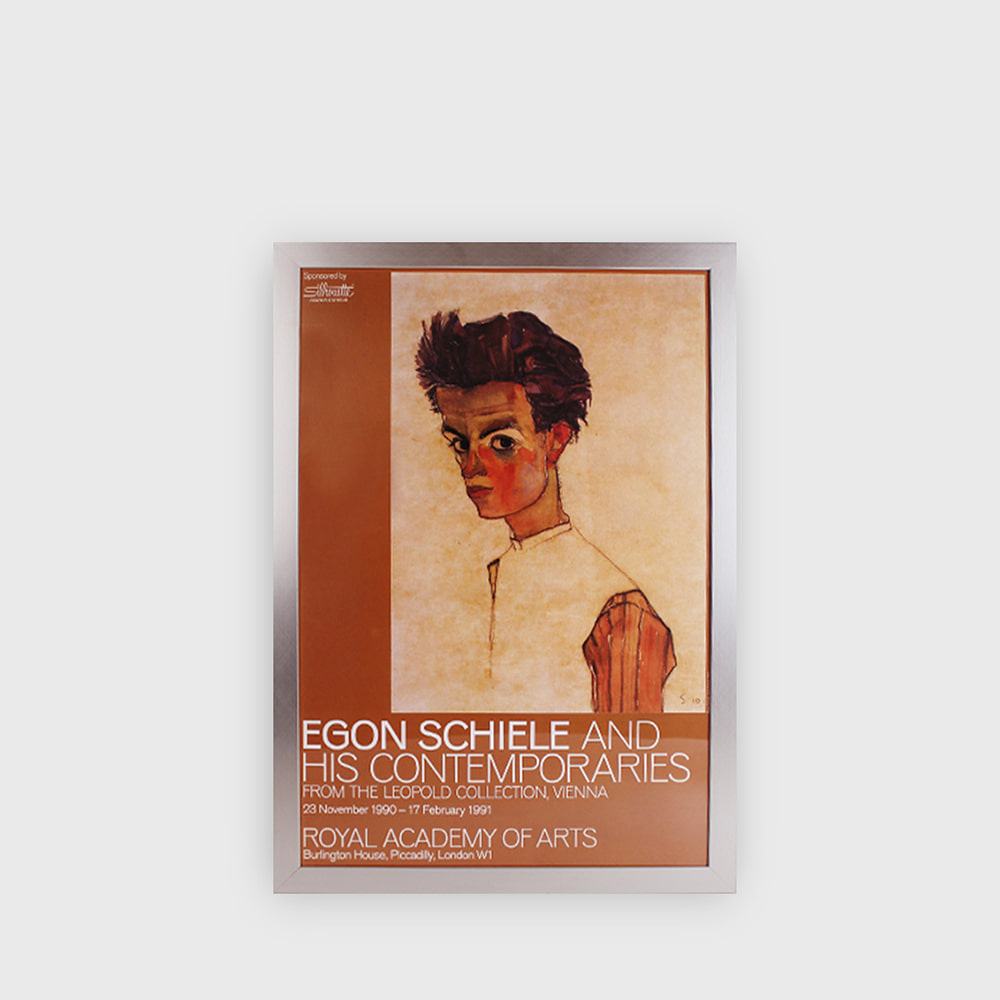 Egon Schiele and His Contemporaries Exhibition Poster 1991