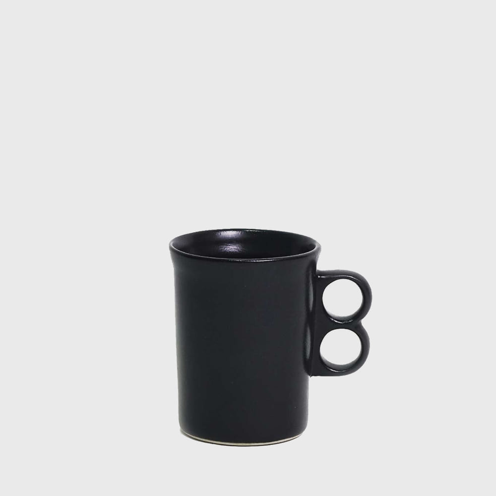 Bennington Potters Satin Black Trigger Mug 1340 [new]