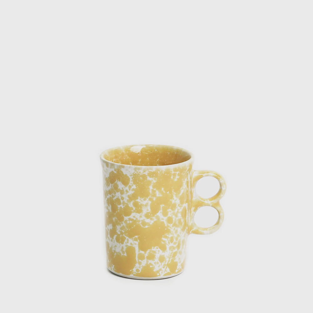 Bennington Potters Morning Glory Yellow Trigger Stoneware Mug 1340 [new]