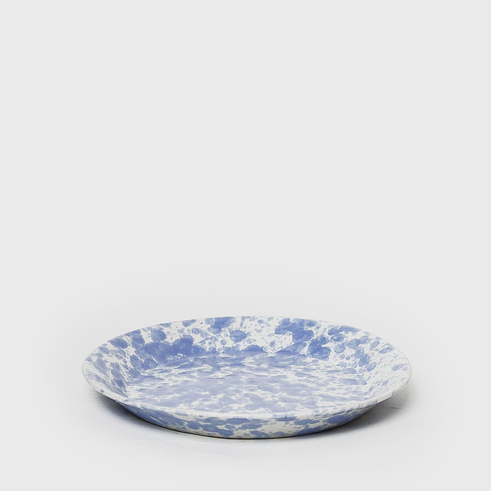 Bennington Potters Morning Glory Blue Lunch Plate 1628 ya