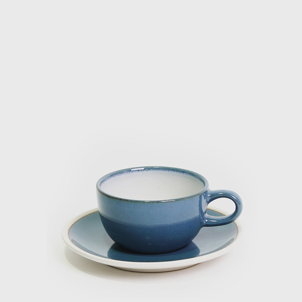 Heath Ceramic French Blue Coupe Line Cup&Saucer