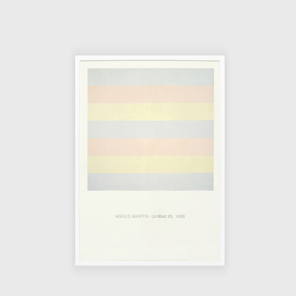 Agnes Martin : Untitled #5, Poster