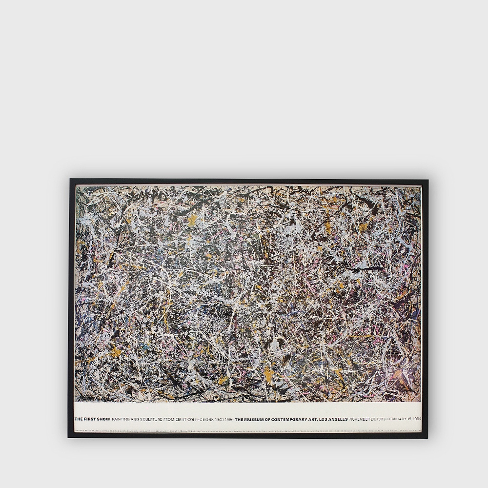 "Jackson Pollock : ""First Show"" The Museum of Contemporary Art, Los Angeles exhibition Poster 1984"