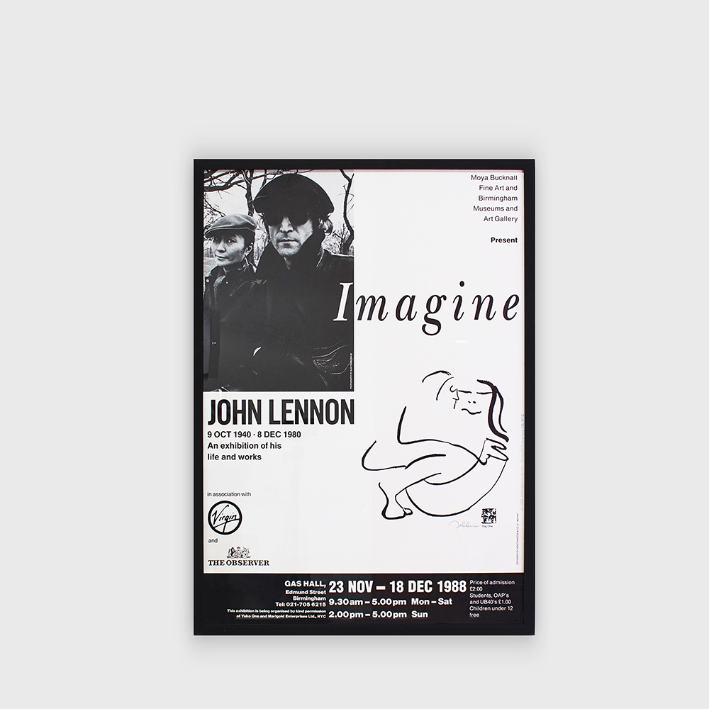John Lennon : Imagine Exhibition  Rare Poster 1988