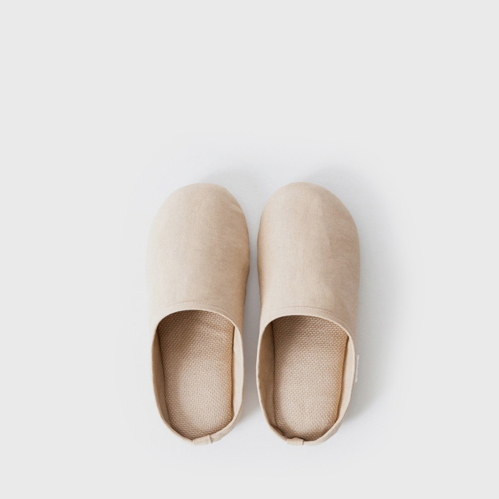 SASAWASHI ROOM SHOES - Camel