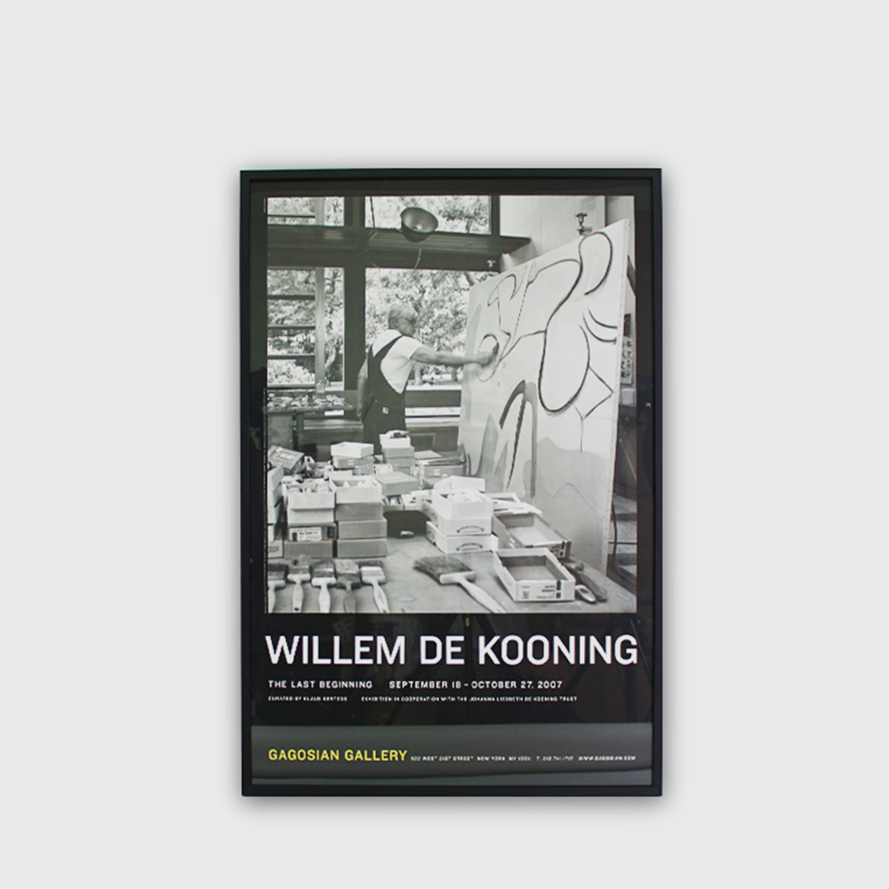 "Willem De Kooning : ""LAST BEGINNING"" Original Art Exhibit Rare Poster 2007"