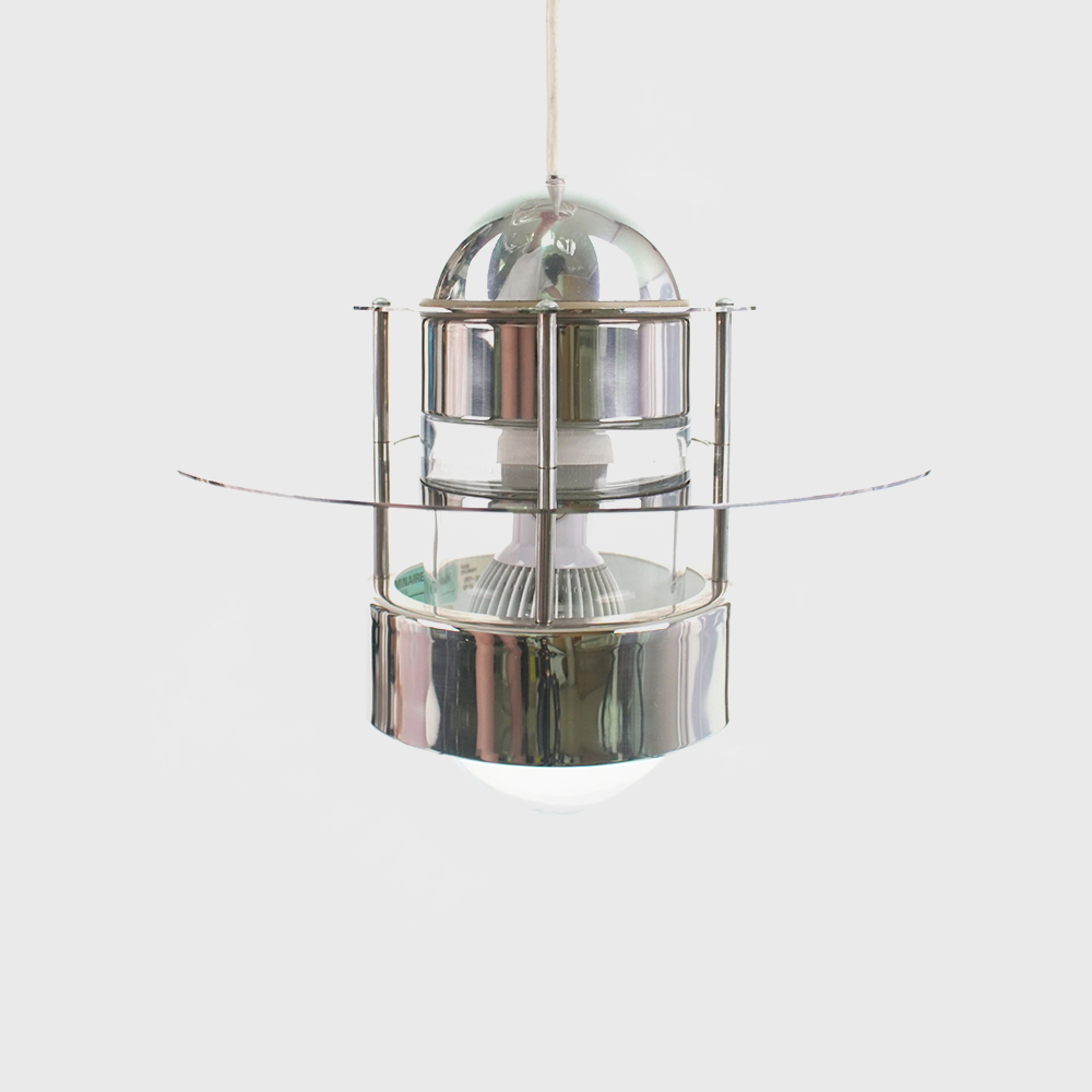 Louis Poulsen Orbiter Limited Edition Chrome Pendant - Jens Møller-Jensen