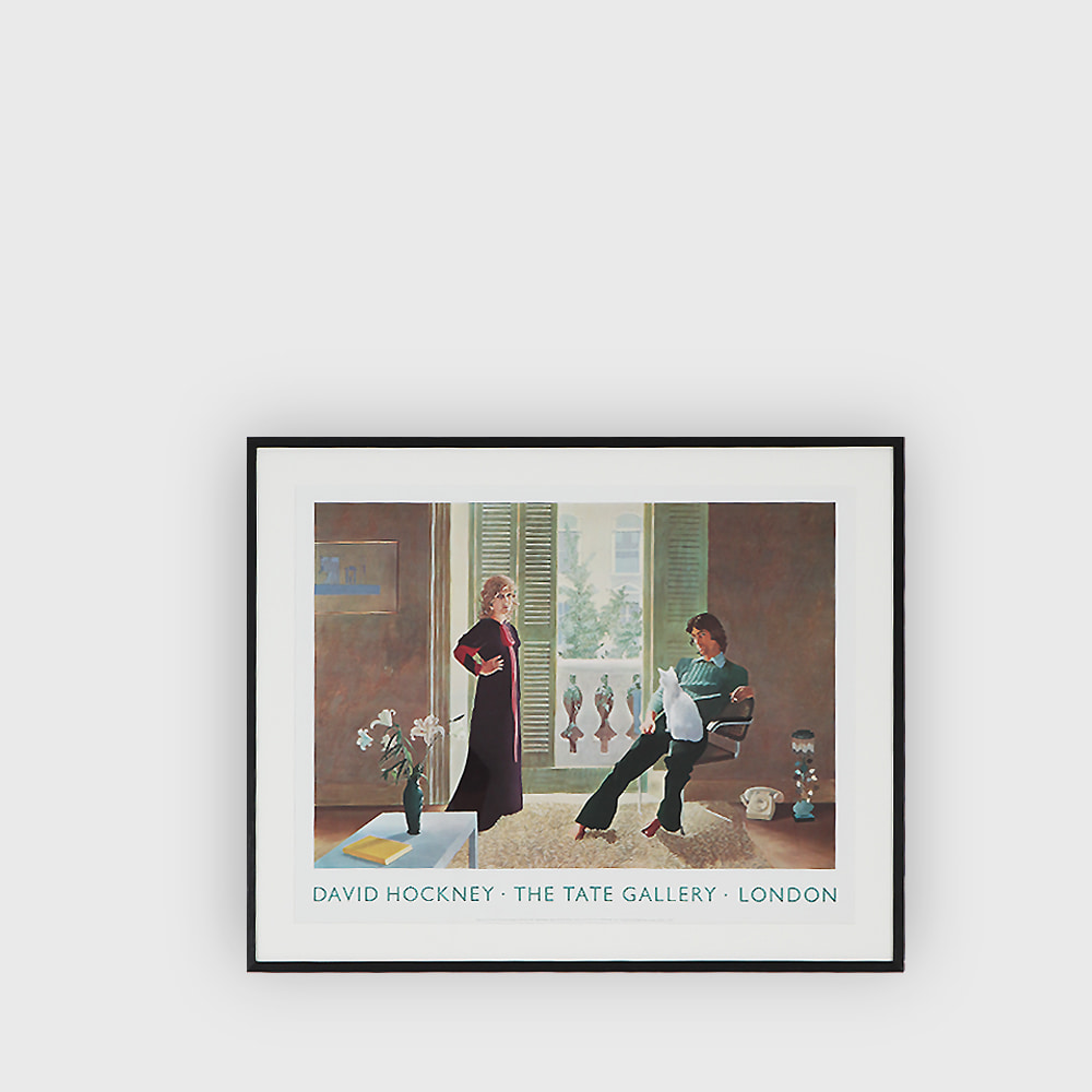 David Hockney : Mr and Mrs Clark and Percy poster 1980