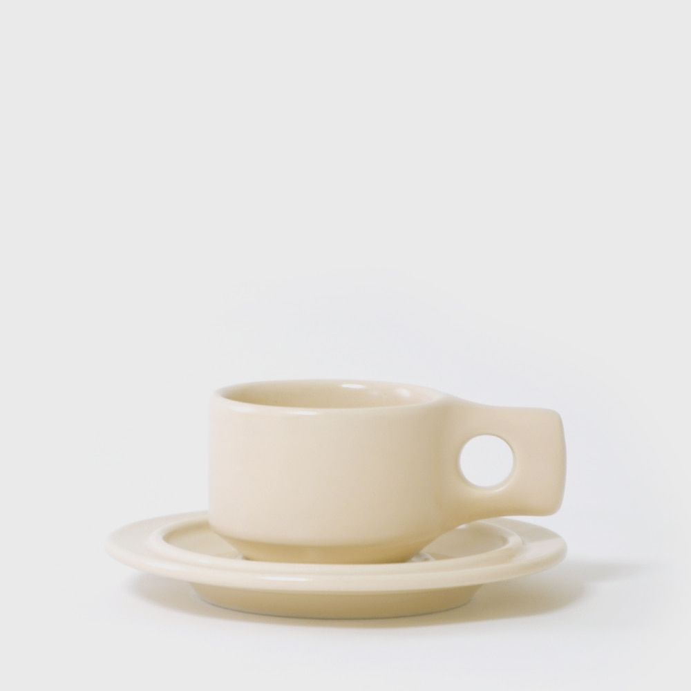 Fabrik Pottery Exclusive Linen Flat Cup & Saucer [New]