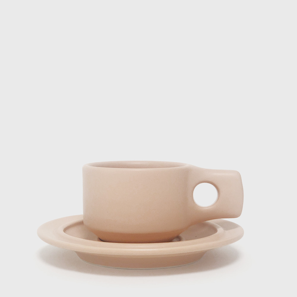 Fabrik Pottery Exclusive Blush Flat Cup & Saucer [New]