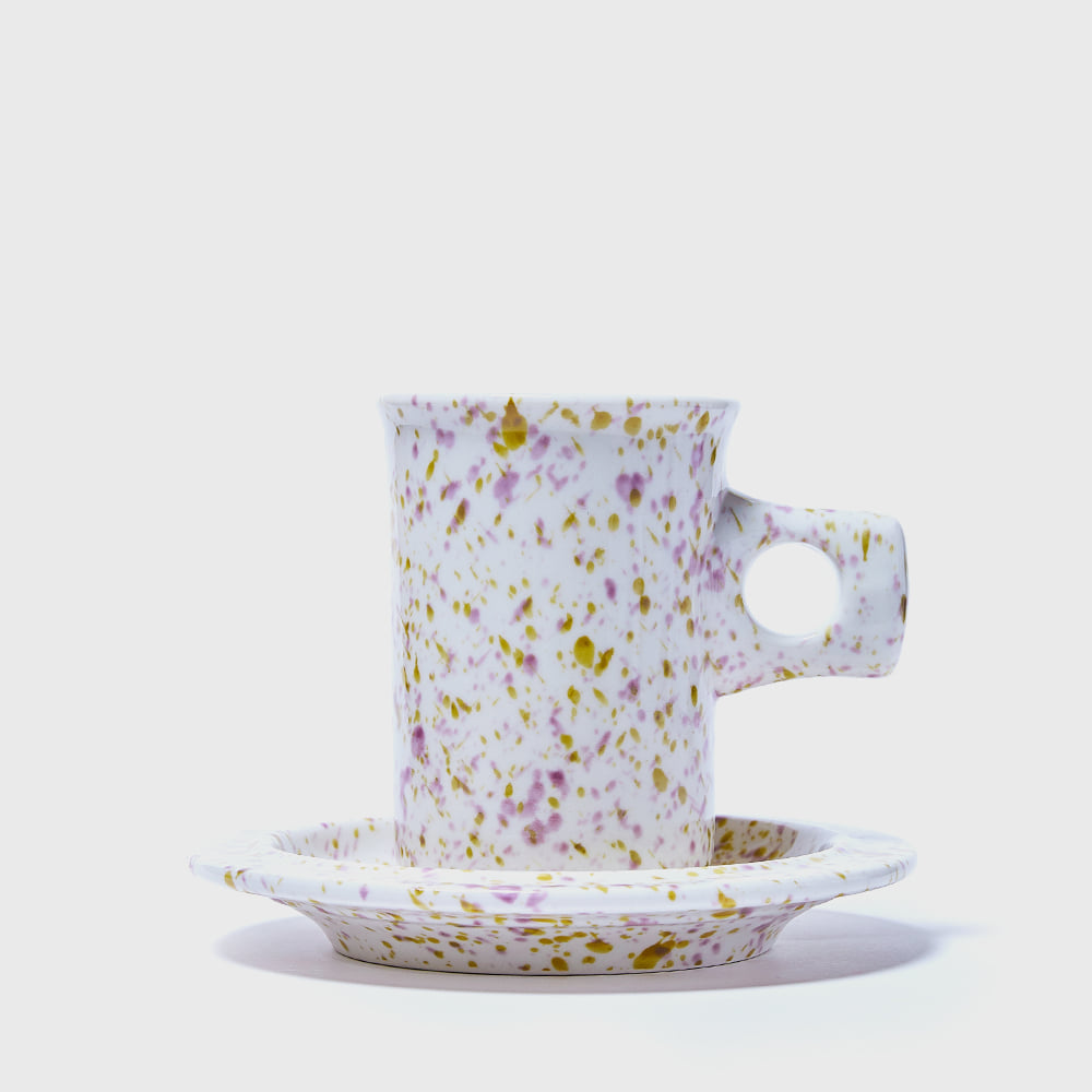 [Splash Line] Rainy Night Flat Mug & Saucer